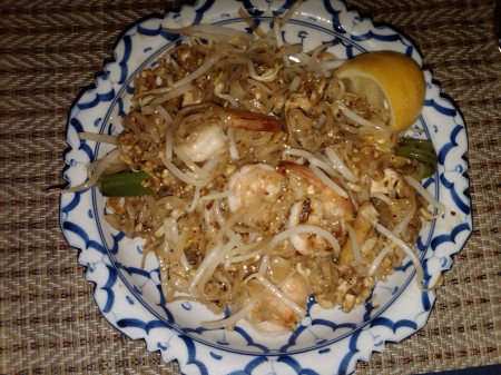 Pad Thai, Thai Spring Roll and Thai Ice Tea = $12