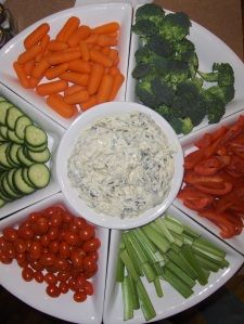 Mexican Hold'em Veggie Tray