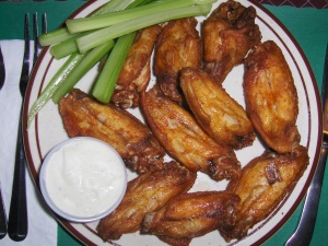 Chicken Wings at Bubba's Pot Belly Stove restaurant