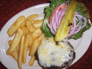 Pineville Tavern Hamburger with Swiss cheese