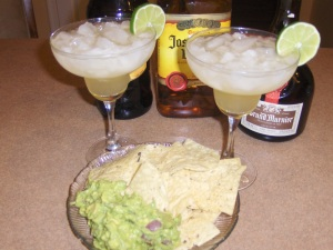 Guacamole and margaritas