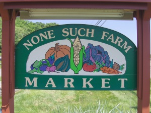 None Such Farm sign