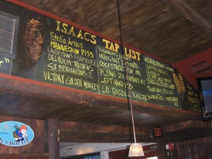 Isaac Newton's Beer Tap List