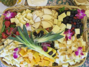 International Fruit and Cheese Display