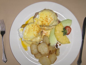 Eggs Benedict at the Logan Inn, New Hope, PA
