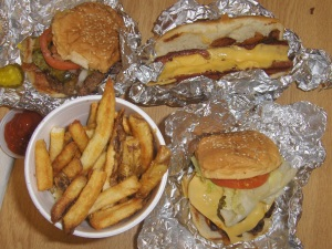 Five Guys Food Combo