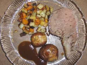 Standing Rib Roast and Roasted Veggies and Potatoes II