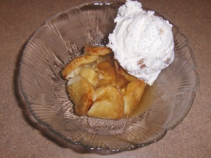 Ice Cream and Caramel Apple Tartlet