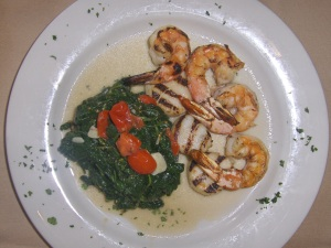 Grilled Scallops and Shrimp at Villaggio