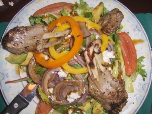 Double Lamb Chop Salad