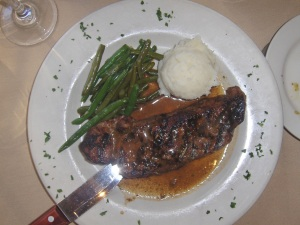 Steak at Villaggio