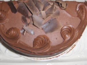Top View Amish Chocolate Cake