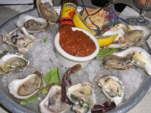 Five kinds of Oysters at Marsha Brown
