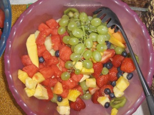 'Cue for the Cure Fruit Salad