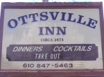 Ottsville Inn sign