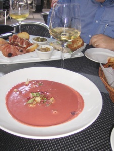 Beet Gazpacho Soup at Mediterra