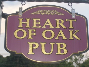 Heart of Oak Pub sign