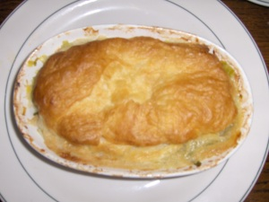 Chicken and Leek Pie at Heart of Oak Pub