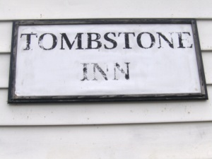 Tombstone Inn sign