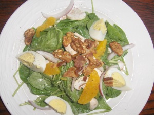 Spinach Salad at Black Bass Hotel