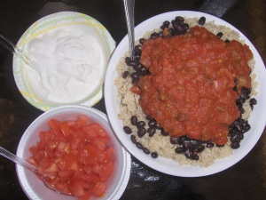 Black Bean, Rice and Salsa