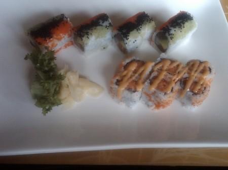 Spicy Tuna and Midori Rolls at Midori Sushi