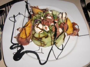 Prosciutto with Melons, Peaches and Mozzarella at Centerbridge Inn