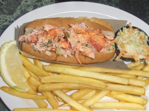 Lobster Roll at The Gables in St. Andrews, NB Canada