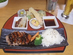 Angus N.Y Steak Teriyaki Bento Box at Ooka in Doylestown, PA