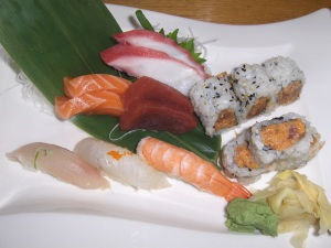 Sushi and Sashimi Lunch at Ooka in Doylestown, PA