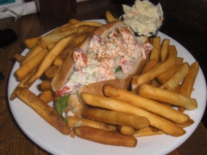 Lobster Roll at the Kennedy Inn - St. Andrews NB Canada