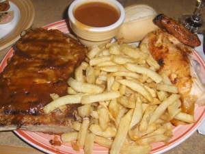 Rib & Chicken Combo at Swiss Chalet