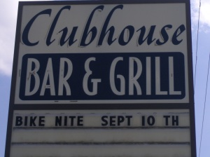 Clubhouse Bar & Grill sign Newtown, PA
