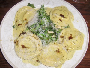 Cheese and Squash Ravioli with Sage Butter Cream Sauce at Catherine Lombardi's in New Brunswick